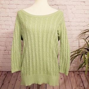 [Ann Taylor Loft] Green Knit Sweater | L